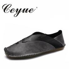 Ceyue Новый 2017 ручной работы город Для мужчин повседневная обувь Италия руководство прогулочная дышащая обувь мужские брендовые Slip-On мужские водонепроницаемые Мокасины