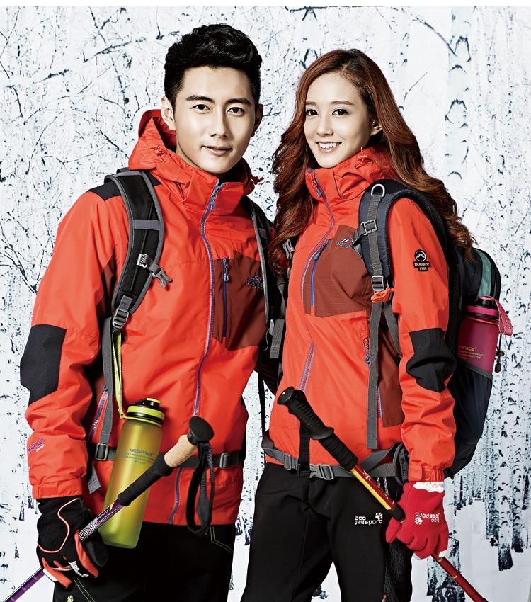 Outdoor Hot Sale 3 in 1 Free Shipping waterproof windproof men women jacket couple breathable sports climbing camping ski coat pelliot new ski jacket men women couple