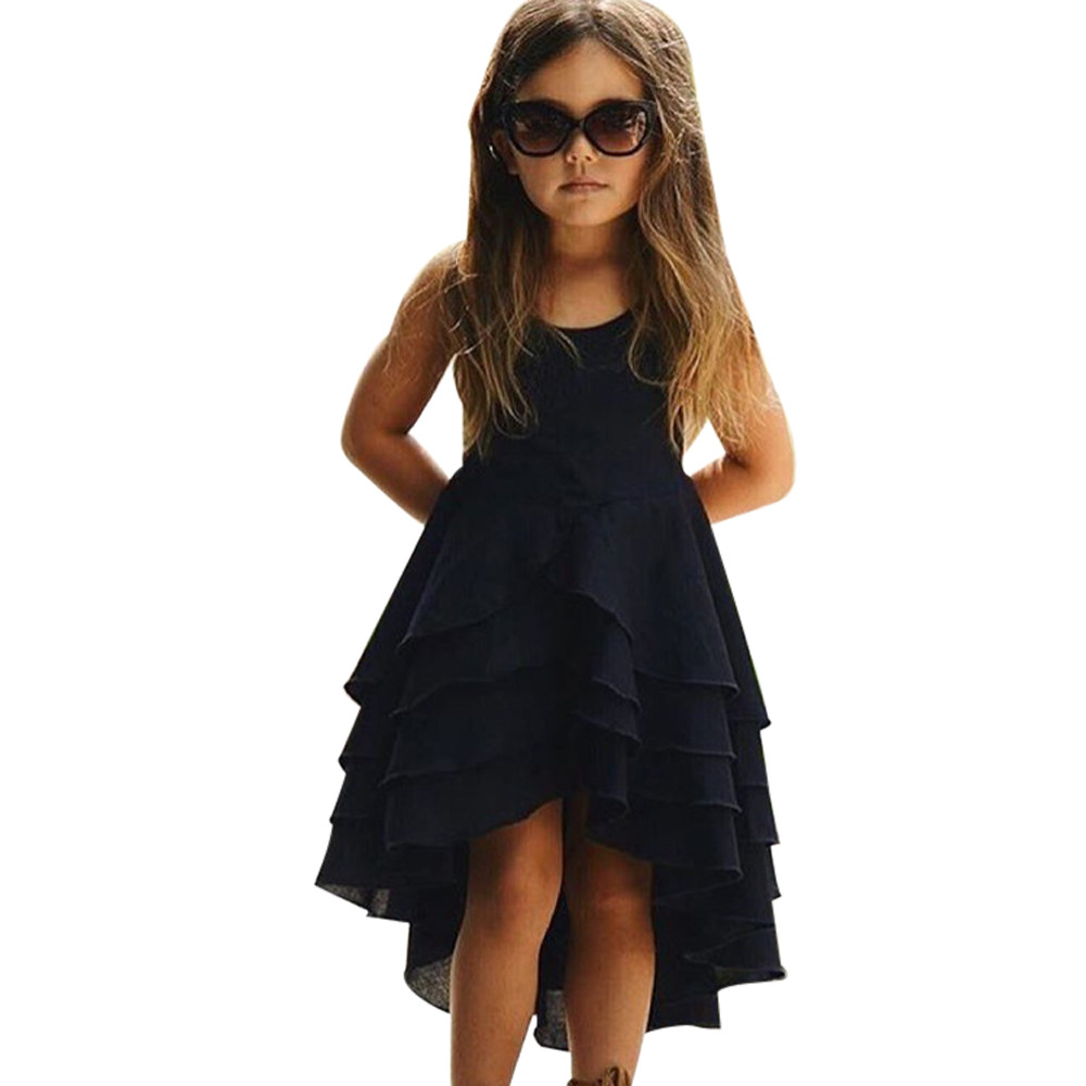 2 Colors Hot Cute Newborn Infant Baby Girl Solid Sleeveless Fold Dress Outfits Clothes High Quality Dropshipping AG30 12