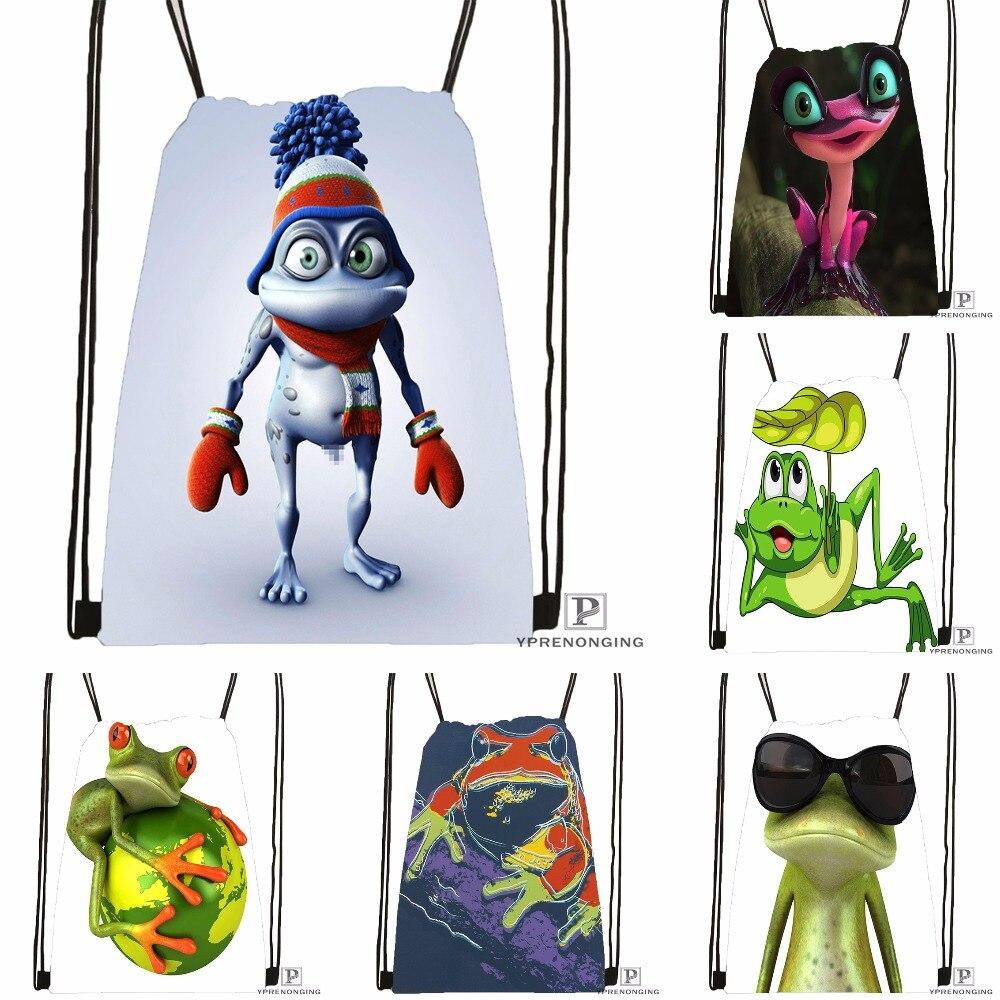 Custom The Frog Kindoom Drawstring Backpack Bag Cute Daypack Kids Satchel (Black Back) 31x40cm#180531-04-75