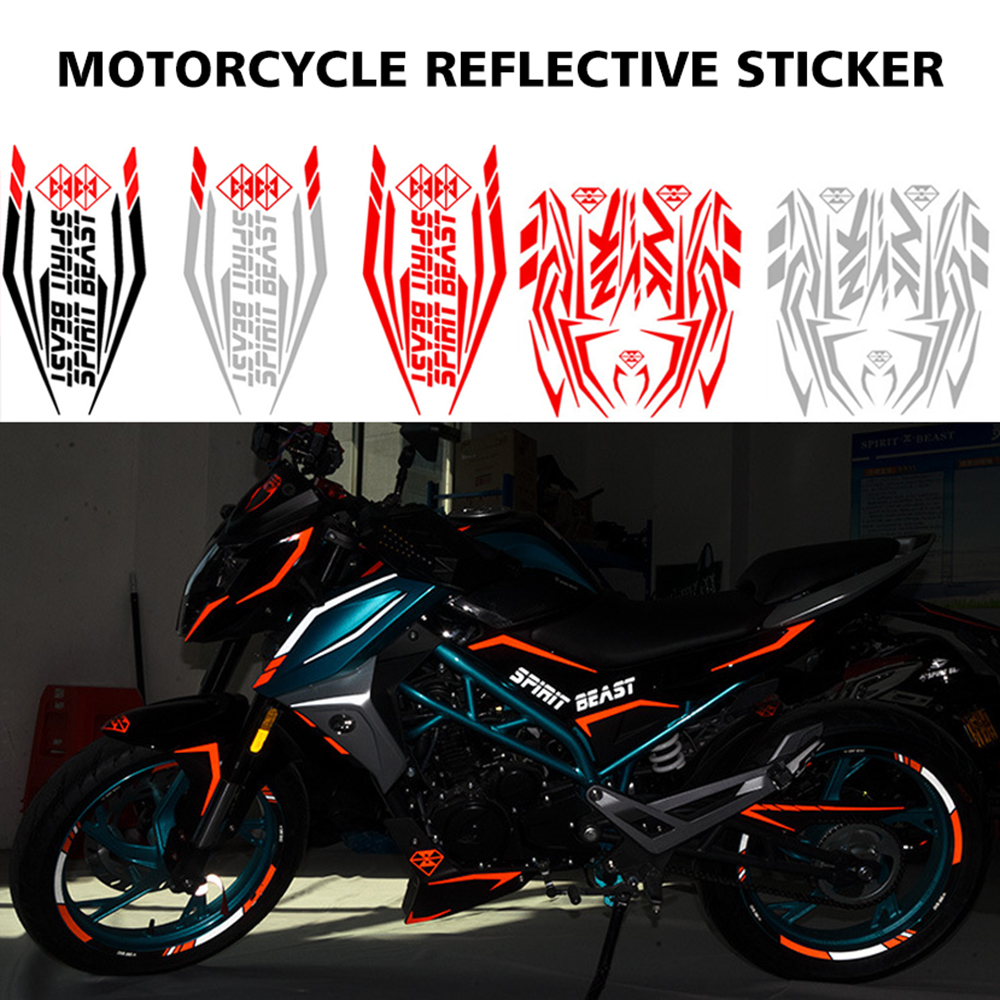 Spirit beast motorcycle stickers decals bike car atv motorbike for honda yamaha suzuki harley benelli aprilla ktm bmw