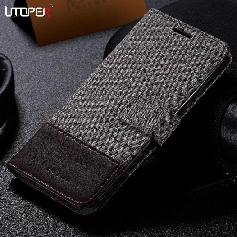 UTOPER Case For <font><b>Nokia</b></font> <font><b>6.1</b></font> Case Flip Wallet PU Leather Capa For <font><b>Nokia</b></font> 6 Case Business Fundas For <font><b>Nokia</b></font> 8 Case 7 Plus 7Plus Cover image
