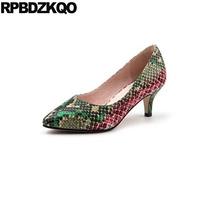 Medium Ladies High Heels Shoes Thin 12 44 Snakeskin Modern New Women Big Size Chic Snake