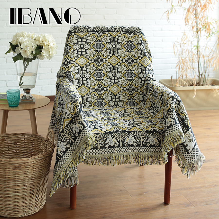 New Design Sofa Blanket Cover 230x250CM Cotton Thread Blanket With Tassel Vintage Home Decorative For Beed Sheet Floor Mat big size nordic navy blue gray mixed sofa cover blanket 130 170cm simple style wearable blanket sofa towel car blanket