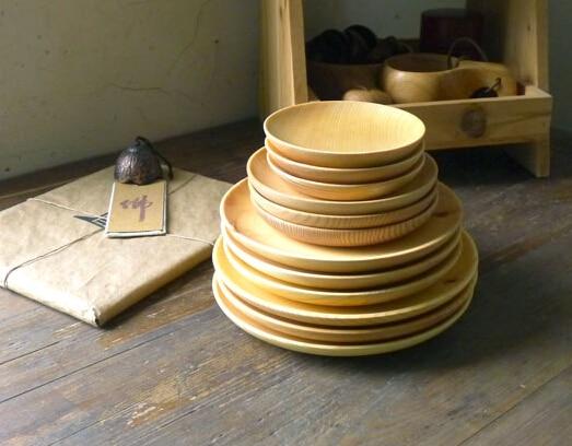 แพ็ค 12 ชิ้นชามสลัดไม้จานจานแผ่นวงกลมแผ่นขนมหวานถาดครัวจาน-ใน จาน จาก บ้านและสวน บน   1
