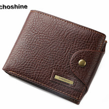 2016 new fashion classic popular Bifold Wallet Men Leather Credit/ID Card Holder Billfold Purse Wallet whoelsale masculine