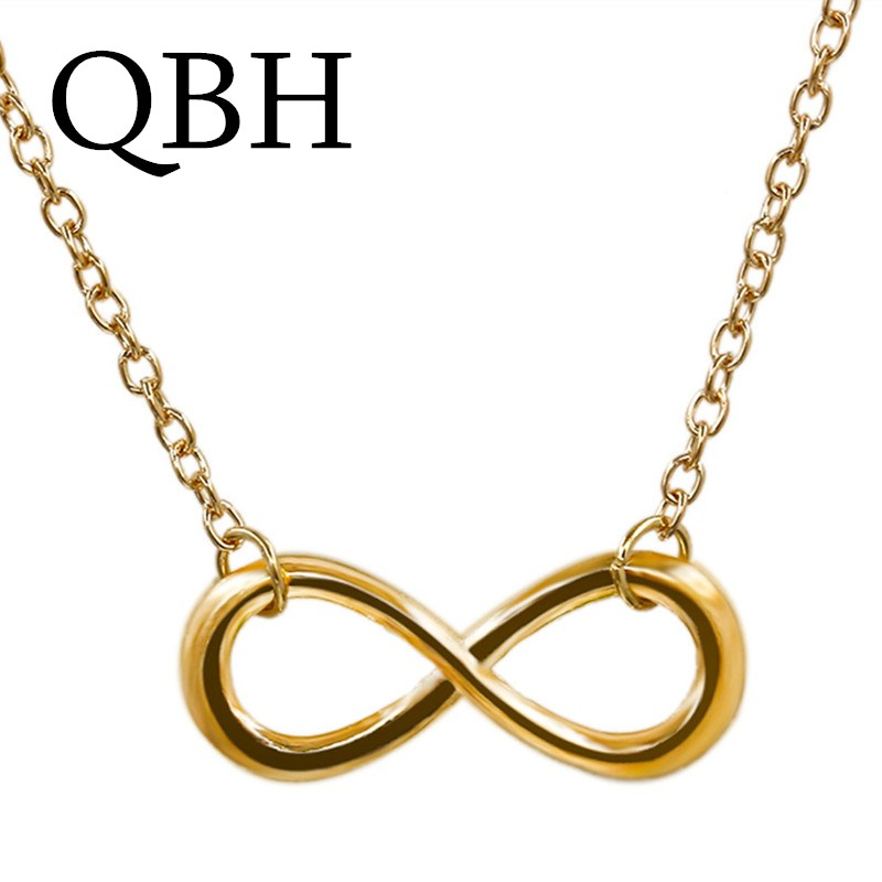 Punk Clavicle Necklace Fashion Vintage Infinity Lucky 8 Pendant Necklaces For Women Wedding Colar Maxi Chain Jewelry Wholesale