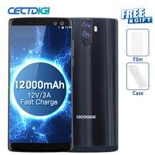 Téléphones mobiles dorigine DOOGEE BL12000 4G Android 7.0 4GB + 32GB Octa Core Smartphone 12000mAh 4 caméras 6.0 pouces FHD + téléphone portable
