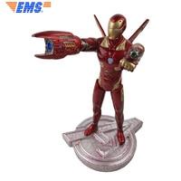 32cm The Avengers Iron Man MK50 Hanos PVC Action Figure Toys Infinity War Iron Man MK50 Collectible Model Toys For Children