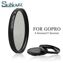 58mm Filter for Go Pro Hero 4 session 58mm CPL Filter Circular Polarizer Polarizing Lens Filter for Gopro Hero 4 hero 5 session