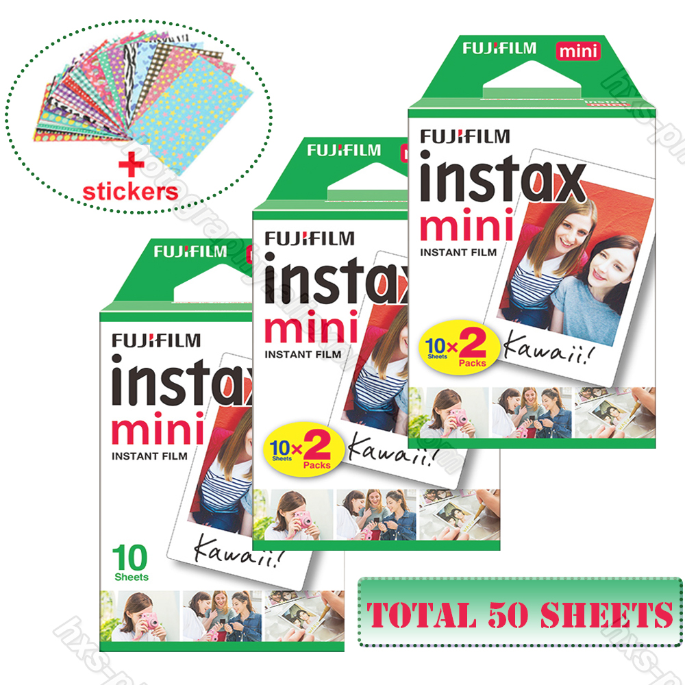 Original Fuji Fujifilm Instax Mini 9 Film White 50 Sheets For 8 9 7 7s 50s 90 25 50i Share SP-1 SP-2 Polaroid 300 Instant Camera