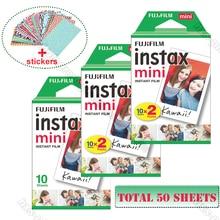 Original Fuji Fujifilm Instax Mini 9 Film blanc 50 feuilles pour 8 9 70 7s 90 25 partager SP 1 SP 2 Liplay Polaroid 300 appareil photo instantané