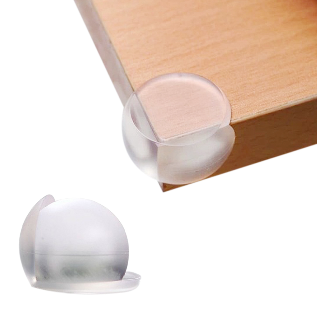 4pc Baby Kids Safety Table Corner Protector Silicone Edge Protection For Children Safety Baby Proof Table Cover Clear