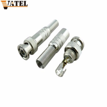 10 pcs/lot BNC Male Connector for RG-59 Coaxical Cable, Brass End, Crimp, Cable Screwing, CCTV Camera BNC connector,No welding