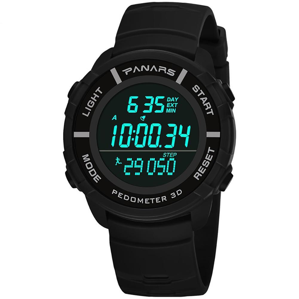 Außen Männer Mode Schrittzähler Kalender Stoppuhr Wasserdicht Militär Sport Elektronik Armbanduhr Uhren AusgewäHltes Material