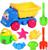 Venda quente 20 PCS brinquedo de banho de areia ferramenta praia ampulheta areia ferramentas crianças conjunto de brinquedos de praia crianças pá diversão ao ar livre brinquedo balde selo carro