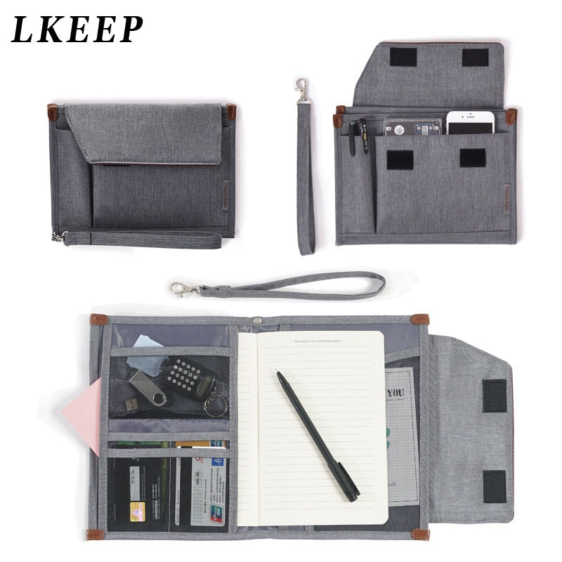New Waterproof Travel Multifunction Document Bag Portable Student File Folder Notebooks Phone Storage Travel Accessories