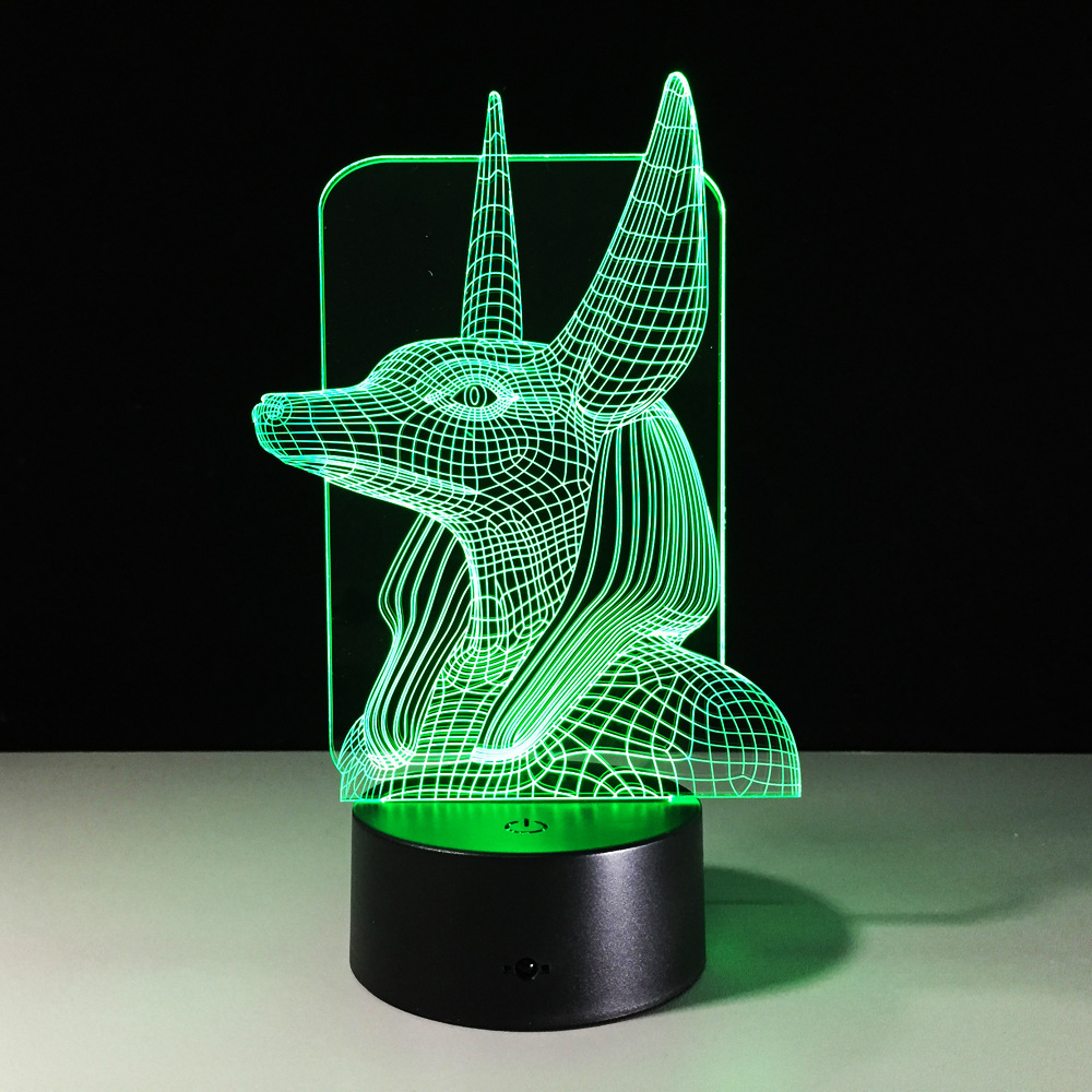 Led Night Light Ancient Egypt Anubis Lampara 3d Lamp for Kid Bedroom Decorative Cool Holiday Birthday Gift Novelty Lights