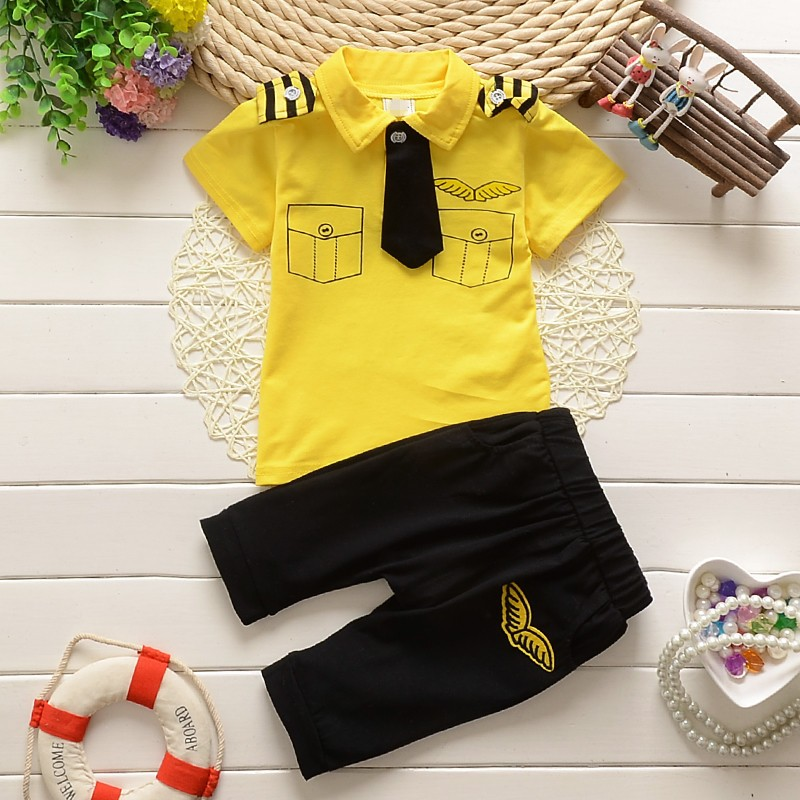 bcd56312dc75 BibiCola baby boy summer clothes sets todder stripe gentleman ...