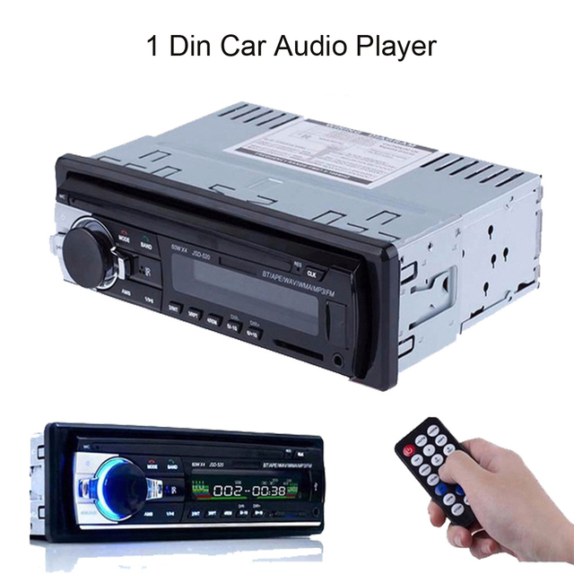 AMPrime Bluetooth Autoradio Car Stereo Radio FM Aux Input Receiver SD USB JSD-520 12V In-dash 1 din Car MP3 Multimedia Player 1