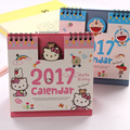2017 Hello Kitty Minions Baymax Panda Totoro Cute Cartoon Office Planner Standing Print Desk Table Calendar For 2017 Agenda