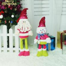 Christmas Decorations for Home Retractable Santa Claus Snowman Dolls Figurine Christmas Ornaments Navidad New Year Decoration