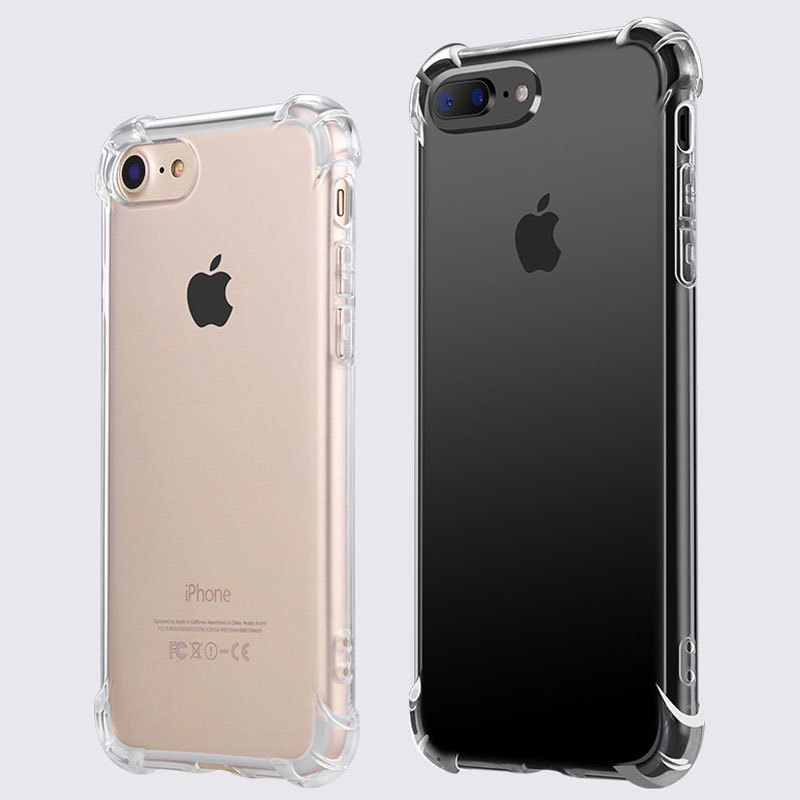 Clear Crystal Anti Knock case for iphone 6 6S plus newest design hot sell top quality soft TPU material coque for iphone 7