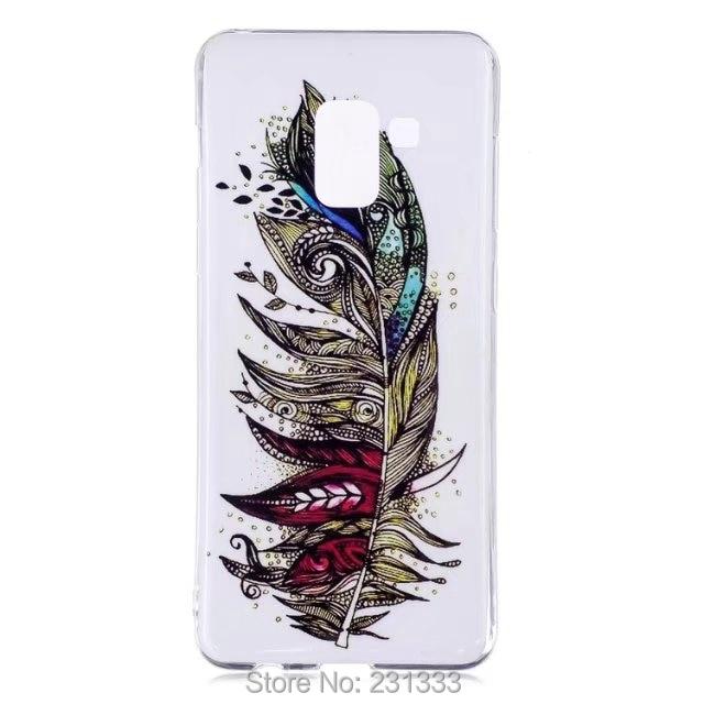 C-ku Luminous Cartoon Soft Tpu Case For Samsung Galaxy A5 2018 Flower Mandala Unicorn Girl Moon Feather Skull Skin Cover 100pcs Cellphones & Telecommunications