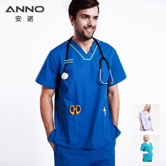 1c126535bad Nursing Uniform Medical Female Male Scrubs Suit Nurse Scrubs For Woman and  Man Dentist Clothes Surgical Gown Shirt Pant Costumes