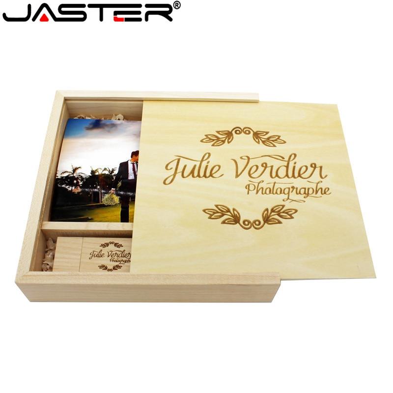 JASTER LOGO Custom Photo Album Wooden USB + Box usb flash
