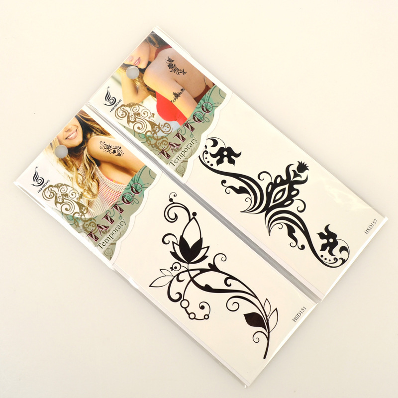 Free shipping stickers clear back tattoo style custom made sun tattoo tanning sticker airbrush temporary tan too stylish spa in body paint from beauty