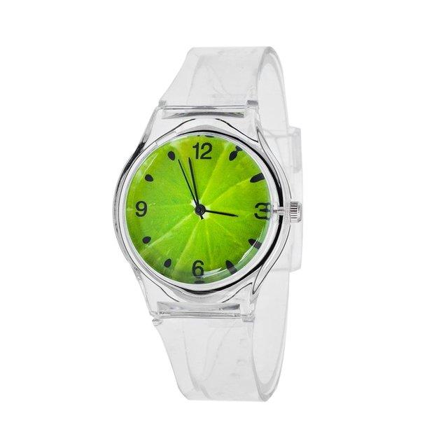 Fashion Design Quartz Silicone Wrist Watches Casual Style Transparent Watchband