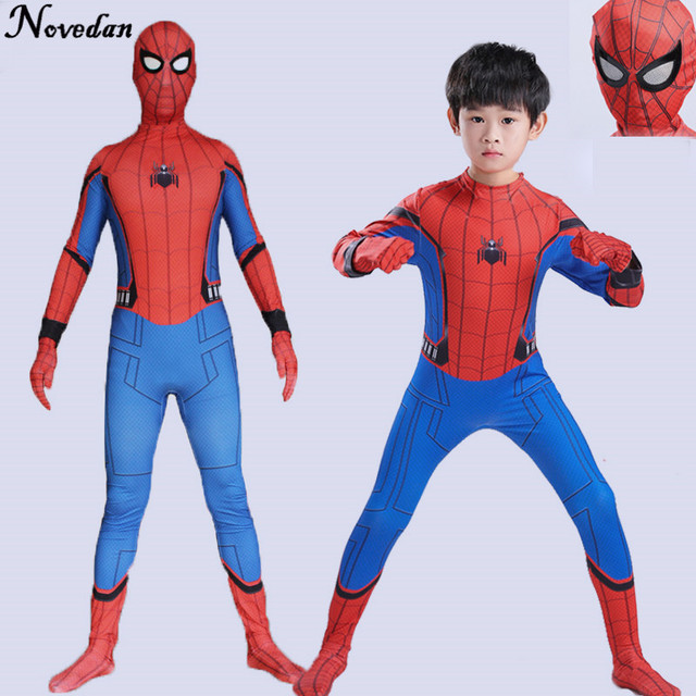 Homecoming Spiderman Costume Kids Child Amazing Spider Man Mask Costume Suit Boys Spandex Red Purim Halloween  sc 1 st  AliExpress.com & Homecoming Spiderman Costume Kids Child Amazing Spider Man Mask ...