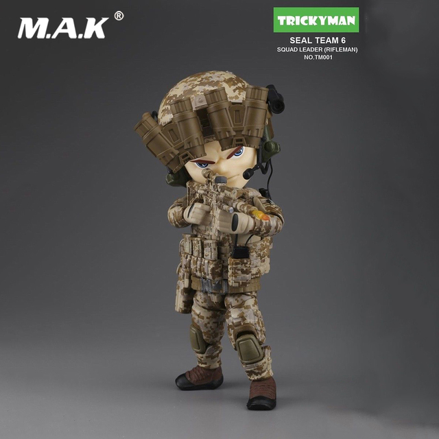 US $57 86 |Collectible Full Set Mini 5inches TRICKYMAN SEAL TEAM 6 SQUAD  LEADER Rifleman TM001 Fiugre Model Toys for Fans Collection Gift-in Action  &