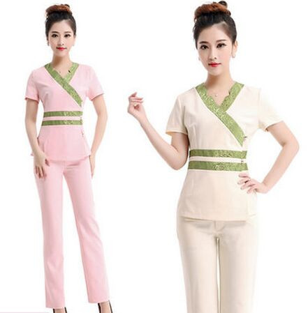 Popular professional work clothes buy cheap professional for Spa uniform indonesia