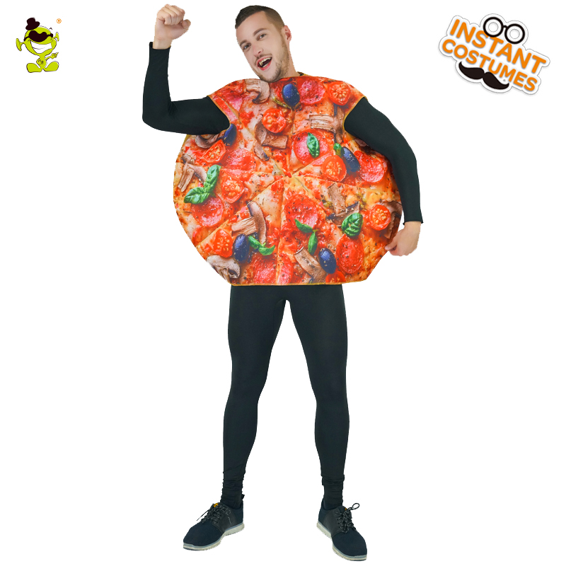 Popular Men's Pizza Costumes Cheer Party Funny Sandwitch Food Fancy Dress Role Play For Adults Performance