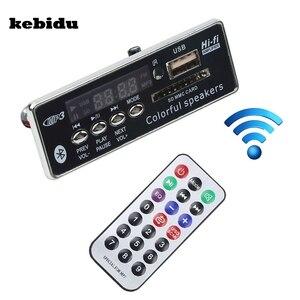 Image 1 - Автомобильный Bluetooth MP3 плеер kebidu с громкой связью, 12 В, встроенный MP3 декодер, плата модуля, USB FM Aux радио с дистанционным управлением