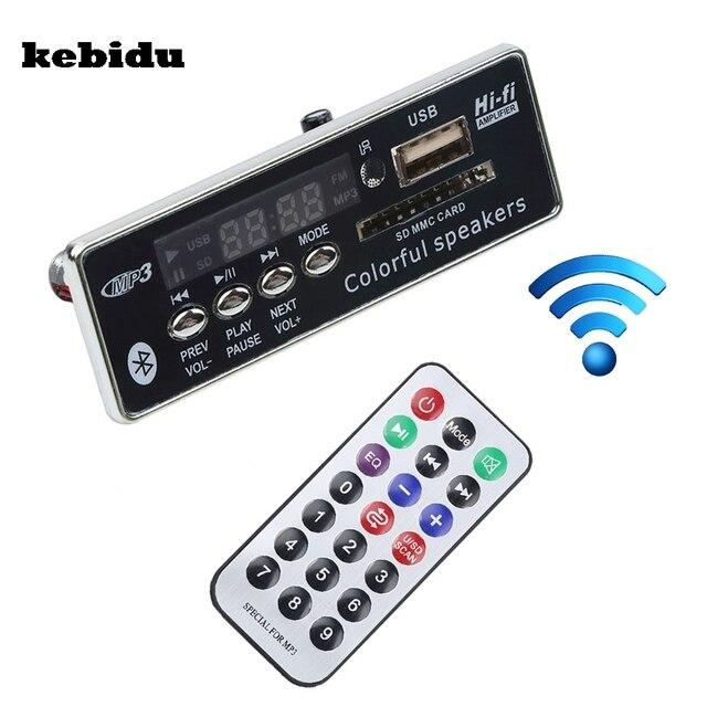 Автомобильный Bluetooth MP3 плеер kebidu с громкой связью, 12 В, встроенный MP3 декодер, плата модуля, USB FM Aux радио с дистанционным управлением