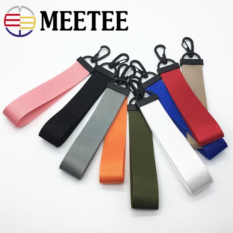 4pcs 16cm Solid Color Strap Ribbon Pendant Plastic Clip Buckle for Clothing Hanging Hook Key Chain Pendant Bags Accessories