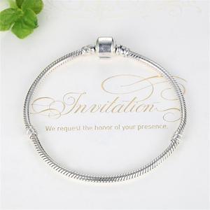 Image 2 - Eleshe Authentieke 100% 925 Sterling Silver Snake Chain Armband Fit Originele Merk Armbanden & Bangles Voor Vrouwen Diy Sieraden