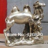 Доставка Тибет серебряные малыш тянуть Верблюда статуя