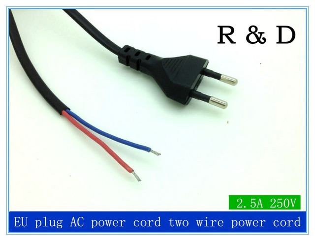 1.5m AC power cord, US/EU plug cord, two wire power cord for ...