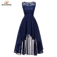 2019 для женщин Сексуальная рукавов Асимметричный шифон кружево Длинные платья женские макси элегантное праздничное платье темно синие