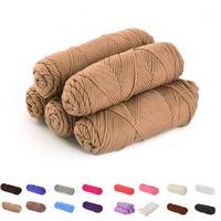 新しいスーパー厚い5ピース綿カラフルな色素スカーフ手編み糸手編みスカーフ柔らかい綿糸厚いウール糸