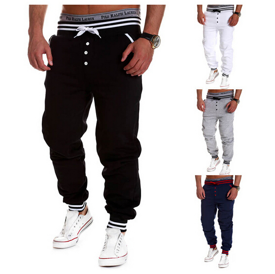0646133f In 2015, the latest male jogger pants/black/white boy jogging pants pants  cartoon clothing wearing the pants men's trousers