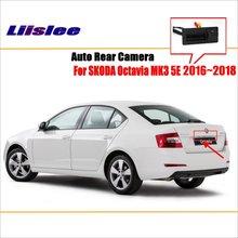 Liislee Car Reverse Rear View Camera For SKODA Octavia MK3 5E 2013~2017 / Parking Trunk Handle Camera / Original Factory Style цена и фото