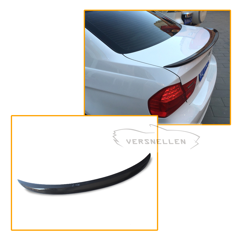 M Performance Style For BMW E90 Spoiler 3 Series E90 & E90 M3 Carbon Fiber Rear Trunk Spoiler 2005 2006 2007 2008 2009 2010 2011 yandex w205 amg style carbon fiber rear spoiler for benz w205 c200 c250 c300 c350 4door 2015 2016 2017