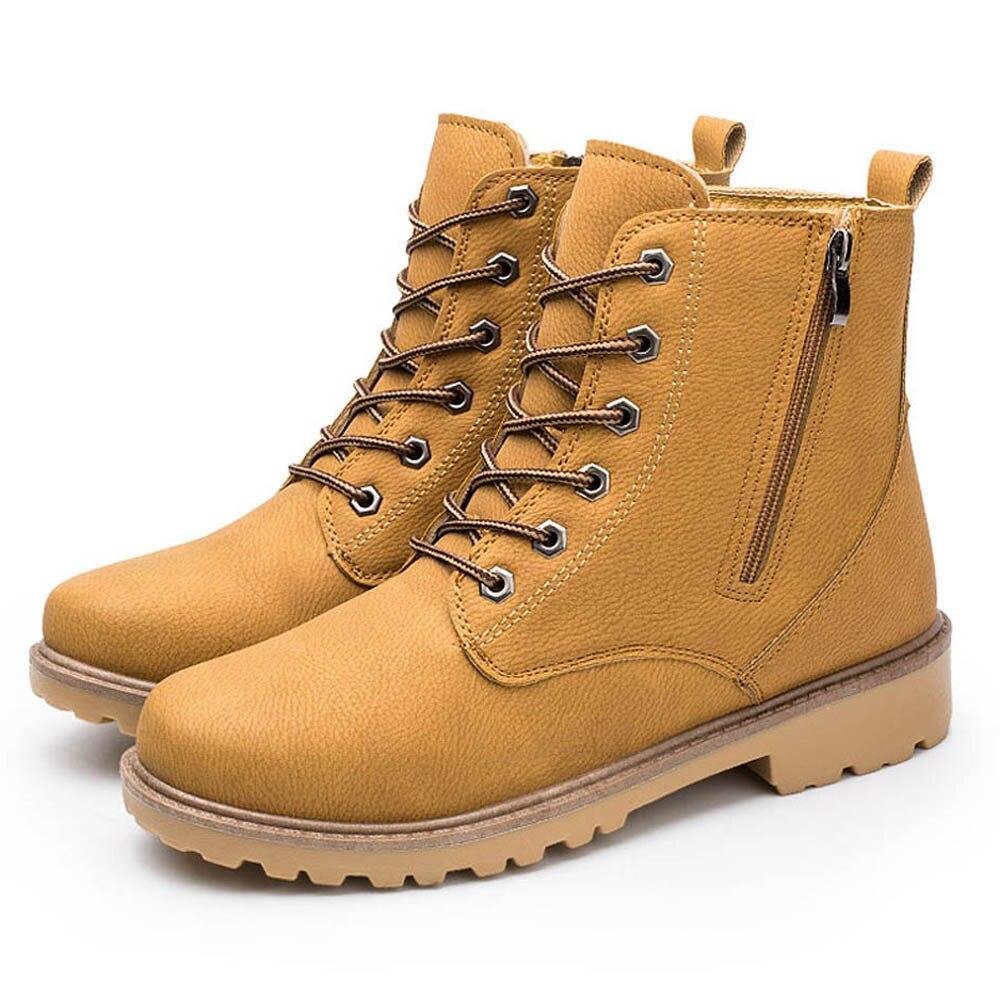 Leder Männer Stiefeletten Frühling Herbst Und Winter Mann Schuhe Ankle Boot Männer Schnee Schuh Arbeit Plus Größe 39-46 Home