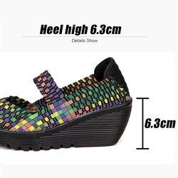 TKN 2019 Summer Women Platform Sandals Shoes Women Woven elastic Shoes Wedge Sandals multi colors cover shoes footwear Women 889 4