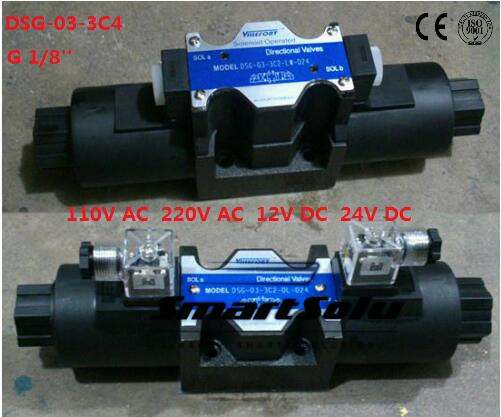 Free shipping DSG-03-3C4 (DSG033C4)  24V DC  1/8''  SOLENOID OPERATED DIRECTIONAL CONTROL VALVE, Terminal Box Type coffee cjh34h100s dc 24v directional motor 1001 dj27